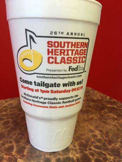 Southern Heritage Classic McDonald's Commemorative Cup